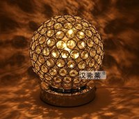 Wholesale Modern K9 Crystal Table Lamp Bedside Living Room Office Lampshade Decoration Luminaire E27 V