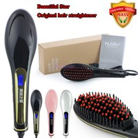 hair straightener - Flat Iron Plancha Pelo Profesional Au New Lanuched Hot Sell Hair Brush Straightener Tangle Professional Straightner with Lcd Display