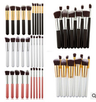 Wholesale Professional Makeup Brushes Set Charming Pink Cosmetic Face Eyeshadow Brushes FREE GIFT C1B19B