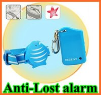 Wholesale Anti Lost Alarm fish Wristband For Kids Child Pet theft Safety key chain finder