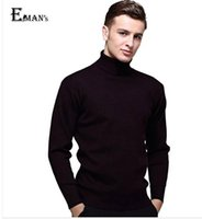 Wholesale Mens Black Wool Turtleneck Sweater Slim Fit Solid Men Knit Cashmere Pullovers And Sweaters For Men Size