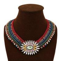 western rhinestone jewelry - Yaljewelry statement necklace new fashion design western style multi layer Weave Rhinestone Choker necklace jewelry for women jewelry