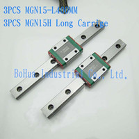 Gcr15 bearing guide rails - New mm Linear Guide MGN15 L400mm Linear Rail with MGN15H Long Linear Block Bearing