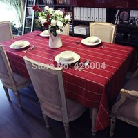Wholesale 2014 New cm Dining Coffee Table Cloth European Style Modern Mediterranean Plaid Cloth Table Cloth