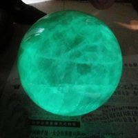 Carved stone carving jade - 60mm Jade carving Glow In The Dark Stone crystal Fluorite sphere ball