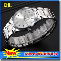 Wholesale Luxury Mens Watch Water proof calendar Quartz Ajustable Watch For Men Classical Wrist Watches Stainless steel strap