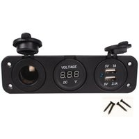 amp jack panel - FS Hot Triple Amp USB Charger Voltmeter V Socket Panel Marine Outlet Jack order lt no track