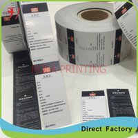 beverage labels - Customized High Quality Self Adhesive Beverage Sticker Waterproof Adhesive Labels