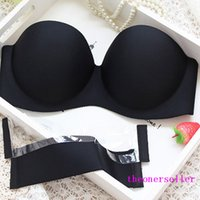 Wholesale Invisible Silicone Wing Bra Sexy Women Strapless Bras Seamless Invisible Off Shoulder Bras Push Up Bras