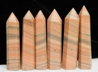 natural quartz crystal - Natural wood grain stone QUARTZ CRYSTAL WAND POINT HEALING Six Ling column