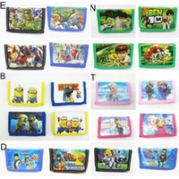 Random color big black wallet - The Avengers Wallets monster high Spiderman Princess Big Hero Age of Ultron super heros Childrens Purse Cartoon bag Iron Man HX