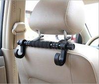 Wholesale Car hook interior double hook chair back car plastic bags storage auto supplies