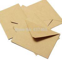Wholesale Kraft Envelops Greeting Cards Christmas Wedding Kraft Paper Gift Envelopes Bag airmail envelopes