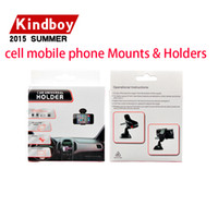 Wholesale 360 degree Car Windshield Mount cell phone mobile phone Holder Bracket stands for iPhone5 S for samsung Smartphone With retail package