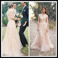 elie saab wedding dresses - 2015 Elie Saab Formal Wedding Dresses Hot Sell Illusion Neckline Bridal Gowns Real Image Appliques Lace Sheer Wedding Gowns