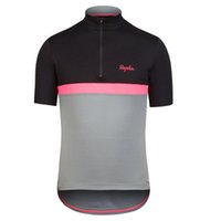 Wholesale Hot sale Rapha Cycling Jerseys Short Sleeves Summer Cycling Shirts compressed Bike Wear Comfortable Breathable Hot New Rapha Jerseys