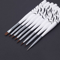 acrylic paint brushes - Hot Sales New Nail Art Design Brushes Dotting Painting Pen Set Acrylic Drawing Liner Tools T247