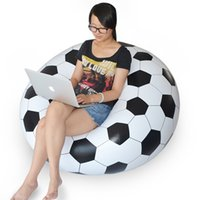 Wholesale 2016 New Arrival Inflatable Sofa Adult Football Self Bean Bag Chair Portable Outdoor Garden Corner Sofa Living Room Furniture JF0002