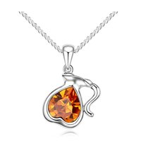 aquarius colors - Q127 authentic Austrian crystal necklace Aquarius The zodiac ornament colors to choose