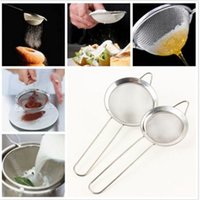 Wholesale Hot Sale Stainless Steel Mesh Wire Flour Colander Sifter Oil Strainer Sieve pc
