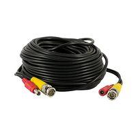 al por mayor sistema de vídeo poder-40m 130feet Seguridad Cable Coaxial Pre-hecho todo-en-Uno BNC DC Power Video Cable para 1080P / 720P, Sistema de Vigilancia de la cámara de CCTV analógico AHD