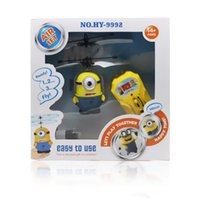 Wholesale Despicable Me Flying Minion Toys RC Helicopter Children s Gifts Remote Control Induction Aircraft
