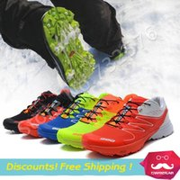 athletic rubber bands - 2015 New Arrival Zapatillas S LAB W Series off road Men Running Shoes Salamon outdoor Sports Shoes For Men Athletic Shoes