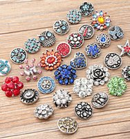Wholesale Mix Many styles mm Noosa Snap Button Latest Fashion Metal Clasps DIY Noosa Accessories Jewelry NOOSA chunk