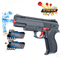 Wholesale New Military Model Soft Bullet Pistol Contest Toys Soft Dart Nerf Toy Gun Sucker Arrows Shooting Game