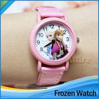 Precio de Gifts-Lo nuevo colorido de la historieta de dibujos animados de cuarzo de pulsera de regalo de los niños del reloj del reloj del niño congelado moda Elissa cumpleaños