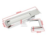 jeep wrangler - xterior Accessories Chromium Styling Tailgate Hinge Cover For Jeep Wrangler JK ABS Chrome Rear Door Dress Up Onwards Cover Kit
