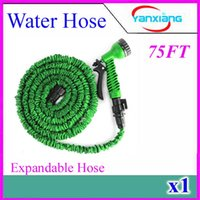 flexible hose - 1pcs FT Expandable Flexible Water Garden Hose hose flexible for water flowers Best quality with valve and Spray Nozzle ZY SG