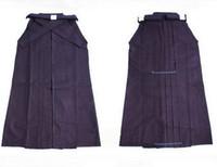 Wholesale High Quality kendoist Black Kendo Iaido Aikido Hapkido Hakama Martial Arts Uniforms Japanese Kimono Dobok Sz XXS XL