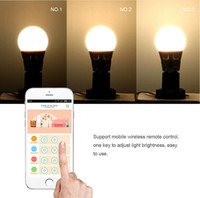 Wholesale Semlamp SL E27 W W iOS Android Remote Control Adjustable Brightness Warm White LED Lamp for Building