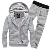 Men brand velour tracksuits - New Fashion Winter And Autumn fall Plus Size Men Sportswear Brand Tracksuits Mens Casual Sports Suit Hooded Sports