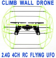 aircraft stunts - BEST PRICE CH RC Skywalker Quad Copter Ghz Stunt Helicopter UFO Aircraft RC Flies Runs Climbing Walls Quadrocopter Drone