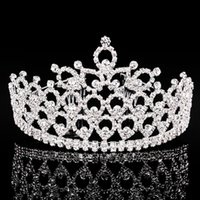big combs - 5PCS New Crystal Alloy Big Crown Tiara Hair Combs Wedding Party Perform Hair Accessories For Women