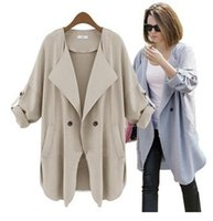 Wholesale Women New Trench Coats Jackets Casual Women s Fashion Outerwear Autumn Winter Hot Sale Cardigan Suit Jackets Casual Clothing CC