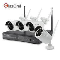 Wholesale Glazorel P Wireless Outdoor IP Camera System ft m Night vision with Channel Security P HD Network IP NVR Wifi kit