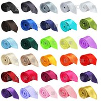 Wholesale 35 colors Mens Solid Color CM Plain Satin business Tie silk tie necktie silk jacquard woven tie