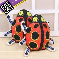american ladybug - 10pcs wholeasle new pets toys good for dog cat American Fatcat ladybug toy dog toy dog training pet toys molar environmental CM