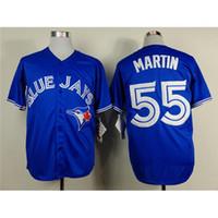 Cheap Blues Jays #55 Russell Martin Blue Baseball Jerseys Cheap Baseball Uniform 2015 New Style Mens Jerseys Highest Quality Jerseys