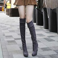 designer sheepskin boots - New Sexy Over Knee High Heel Boots For Women Brand Winter Warm Women Boots Designer Women Shoes