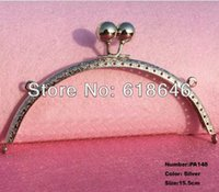 purse clasp - PA148 new cm glossy silver tone metal chain frame kiss clasp for purse bag purse frame DIY bag purse accessory