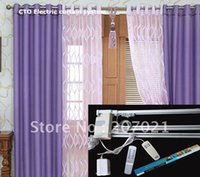 Wholesale Window width meters DIY Remote Control Electric Motorized window Curtain rods poles