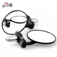 Wholesale One Pair Motorcycle Accessories Mirror Moto Aluminum CNC Motor Spiegels custom chopper mirrors retrovisor de moto cafe racer