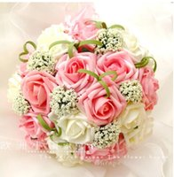 artificial flower bouquet - 2015 Colorful Artificial Wedding Bouquets for Bride Hand Holding Flowers Cheap Wedding Favors Silk Wedding Bouquet Flowers WX