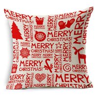 Wholesale 2016 New Resuli Casual Cotton Linen Merry Christmas Pillow Cushion Christmas Home Decoration Freeshipping party decoration