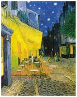 art postcard printing - Vincent Van Gogh Pavement Cafe at Night Decorative Fine Art Postcard Poster Print Size x75cm C223