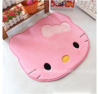 american cars wash - 3 Layers Struction Lovely Soft Comfortable Hello Kitty Memory Foam Slip Proof Home Carpet Car Door Floor Mat